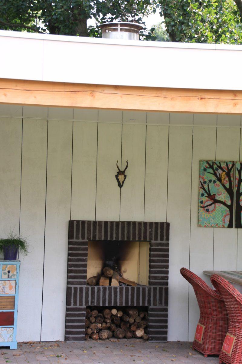 Tuinhuis, haard & houtopslag