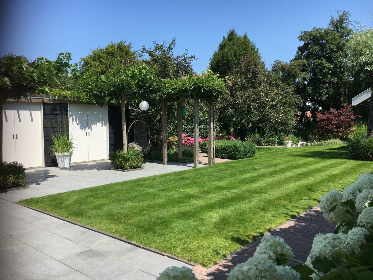 Tuinkasten met overkapping